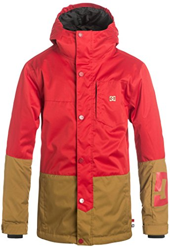 DC Boys' Big Defy Youth Snow Jacket, Racing Red, ()