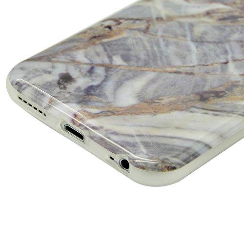 para iPhone 6 Plus Funda Mármol Sunroyal® Suave TPU Carcasa Parachoques Case Cover [Shock-Absorción] [Anti-Arañazos] TPU Gel Silicona Funda Cubierta Protectora Ultra Slim Flexible Caja del Teléfono pa A-29