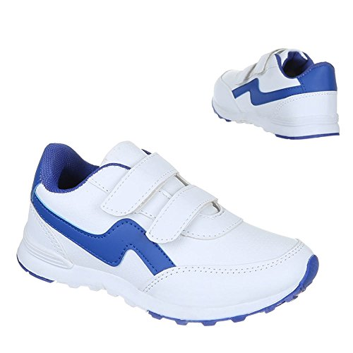 Ital-Design - Zapatillas de Material Sintético para niño Blanco - blanco