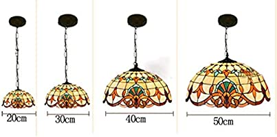 BOSSLV Lámpara Colgante Diseño Vintage Salón Comedor Veranda ...