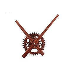 Reliable_E Wood Like Clock Hands Power Movement DIY Wall Clock Kit for Home Decoration (C#wood-like-gear)
