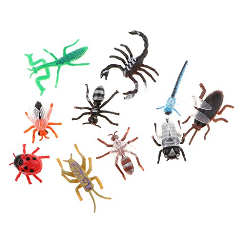 Baosity おもちゃ 昆虫モデル フィギュア トンボ カニ 蟻そ模型 アクションフィギュア バグおもちゃ 全10点