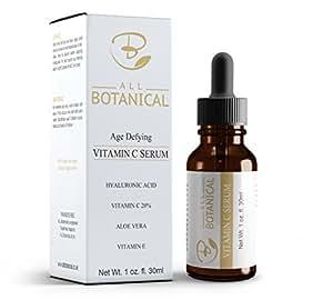 Sérum antiedad de vitamina C con ácido hialurónico de All Botanical, envase de 30 ml.: Amazon.es: Belleza