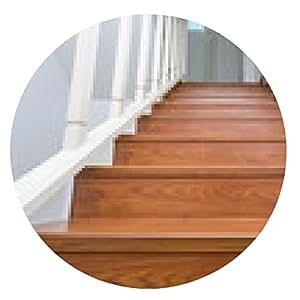alfombrilla de ratón escalera de madera hecha de madera laminada en blanco casa moderna - ronda - 20cm