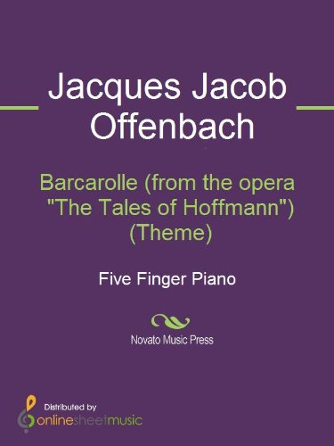 Barcarolle The Opera And I >> Barcarolle From The Opera The Tales Of Hoffmann Theme Kindle