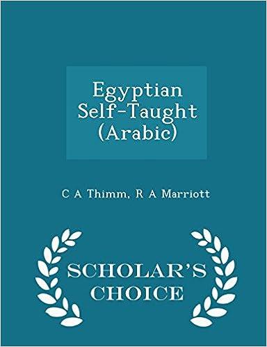 Book Egyptian Self-Taught (Arabic) - Scholar's Choice Edition