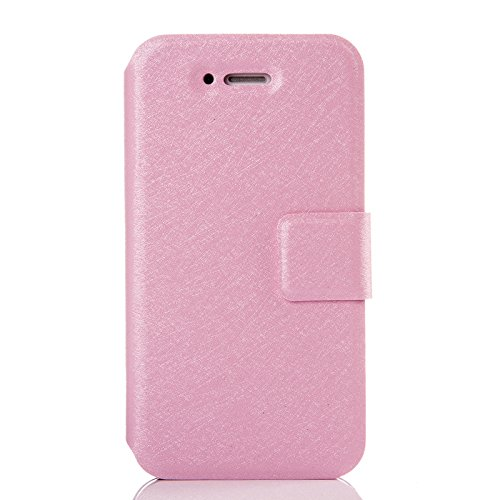 Hkevin iPhone 6 Case Wallet / iPhone 6 Pluse Case Stand, PU Leather Folio Cell Phone Case Flip Cover Protective Shell with Closure for Apple iPhone 6plus/6Splus(4.7) (pink)