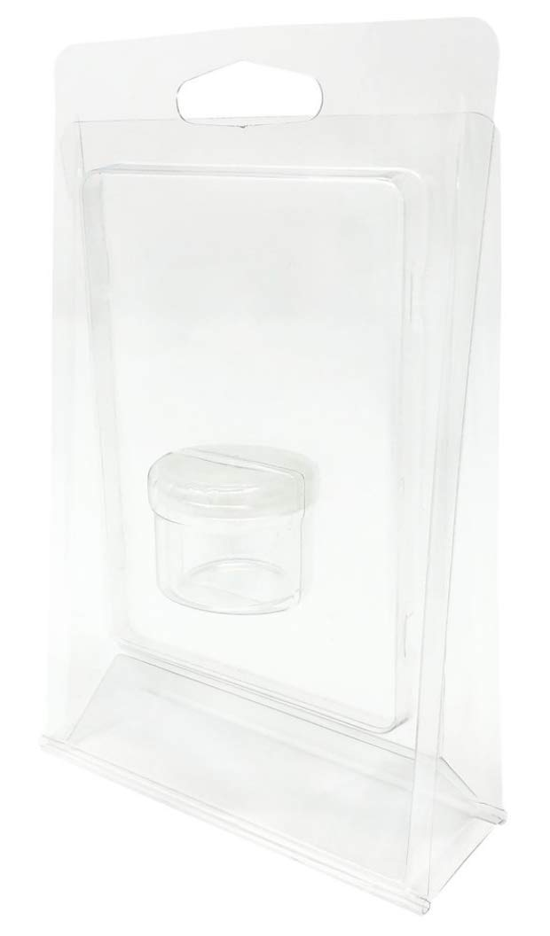 1000pcs - Stand-up Clamshell Blister Packaging for 6ml Glass Jar Container