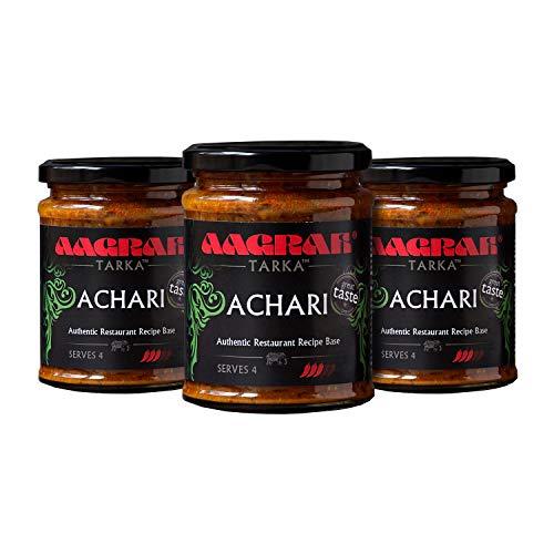 Aagrah Achari Tarka Indiase curry kooksaus – Authentieke Restaurant Recept Base – Medium Heat – 270g Jar Serveert 3-4…
