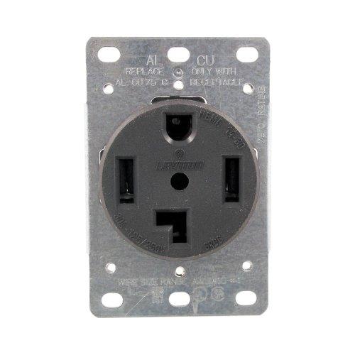 1 - Single-Flush Dryer Receptacle (4 wire), 30A , 4 wire , 278 (Single Dryer Flush 278)