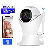 Cheap WiFi Surveillance Dome Cameras Include 32GB Card FHD Wireless IP Pan/Tilt/Zoom Cam,Home Security Camera 1080P,Two-Way Audio,Motion Detection, for Elder/Pet/Office/Baby Monitor