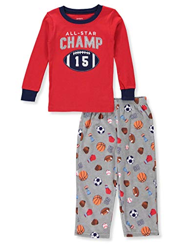 (Carter's Little Boys' Toddler 2-Piece Pajamas - red/Multi, 2t )