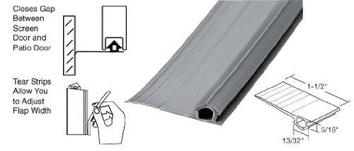 Gray Vinyl Adjustable Width Bug Strip, 1-1/2'' Max Width - 1000 ft Roll