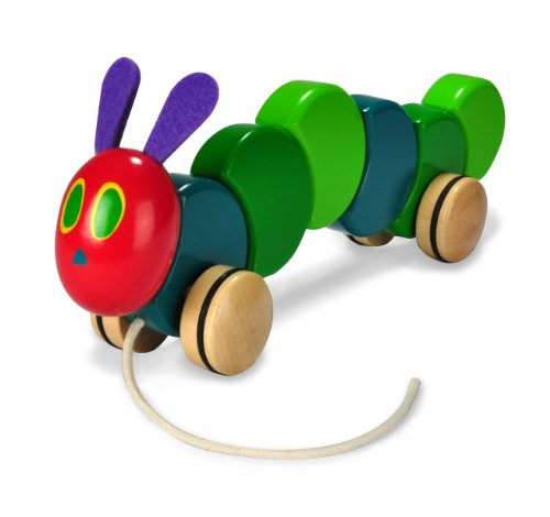 The World of Eric Carle, The Very Hungry Caterpillar Wooden Pull Toy, 13'' by Kids Preferred
