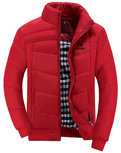 Padded Jacket Collar Stand Men Coat Sale Hot 4 Color Outerwear UK Solid 8qwZnCR