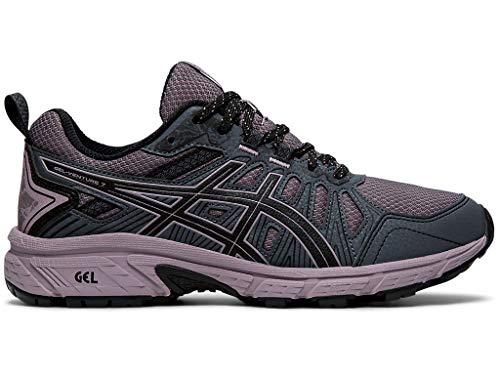 ASICS Women's Gel-Venture 7 Running Shoes, 9.5M, Carrier Grey/Violet Blush
