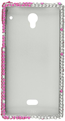 Eagle Cell Sharp Aquos Crystal CS Diamond Case - Retail Packaging - Pink/Silver