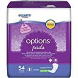 Body Curve Moderate Absorbency Incontinence Pads, Regular Length, 54 count