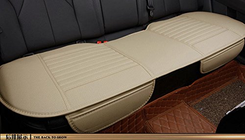 EDEALYN 53 × 19.5 inches PU Leatherette long rear seat Auto seat cover Chair Seat Cushion car seat cover for Car ,Car Interior Accessories (Rear seat-Beige)