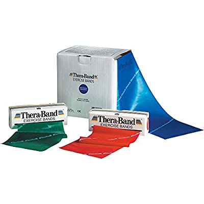 TheraBand Professional Latex Resistance Bands For Upper and Lower Body Exercise, Physical Therapy, Lower Pilates, At-Home Workouts, and Rehab, 6 Yard Roll, Black, Special Heavy, Advanced Level 1