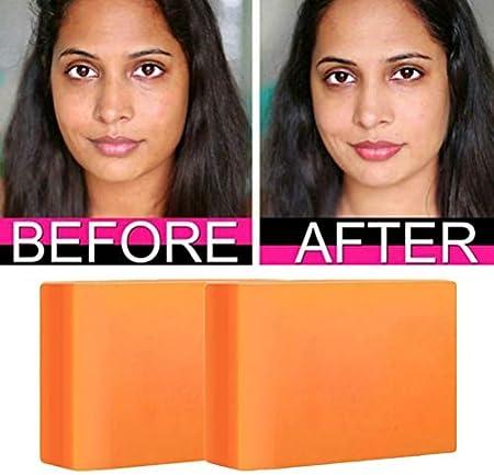 Jabón blanqueador, 2 barras de ácido kójico para aclarar la piel Limpiador de piel aclarador hecho a mano para rostro y cuerpo, contiene extractos de plantas naturales para limpiar la suciedad