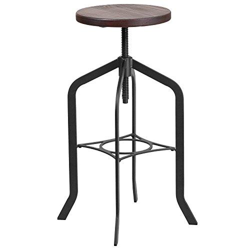 Flash Furniture 30 Barstool with Swivel Lift Wood Seat