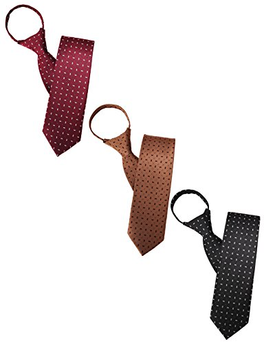 H2H Mens Comfortable Zipper Various Patterned Neck Tie BLACK/NAVY/WINE Asia ONESIZE (KMANT0107)