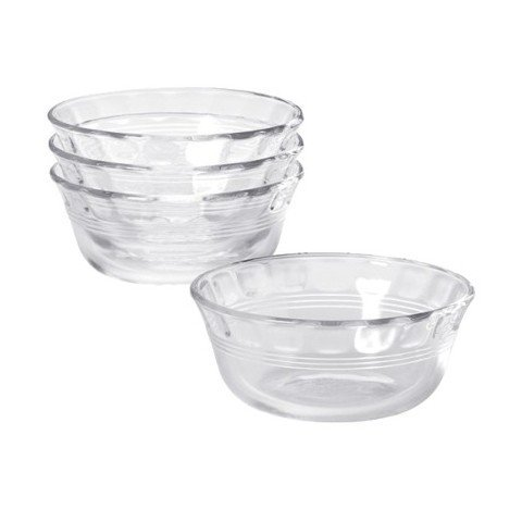- Pyrex Original 10 oz Custard Cup 4 pack,Clear glass