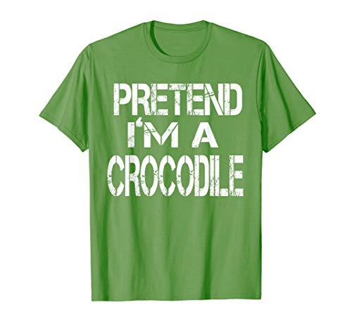 Pretend I'm A Crocodile Lazy Halloween Costume Tshirt -
