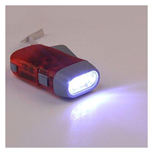 BOKIE 3 LED Dynamo Wind Up Flashlight Hand-Pressing Crank NR No Battery Torch