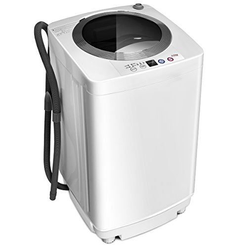 Giantex Portable Compact Full-Automatic Laundry 1.6 Cu. ft. Washing Machine Washer/Spinner W/Drain Pump