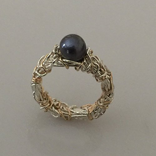 Tahitian Pearl Engagement Ring with 14K Yellow Gold