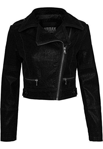Ladies Short Biker Jacket black M