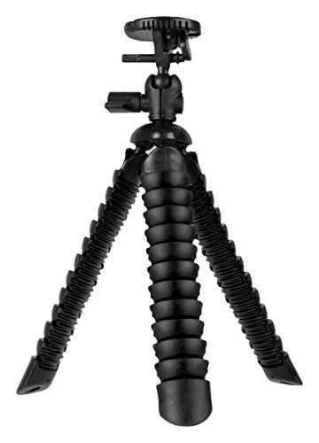 Vivitar Large Rubbarized Spider Tripod, Extends 12 inches and rotates 360 Degrees, VIV-SP-12-BLK , Black