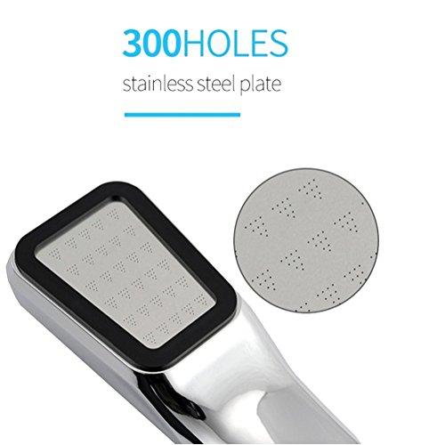 Shower Head Quality Bathroom Rainfall 300 Hole Water Saving Flow With Chrome ABS Rain Shower Head High Pressure Boost