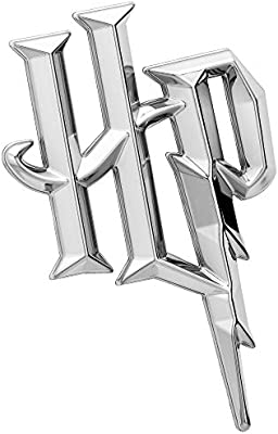 Almost Anything HP Automotive Sticker Decal Badge Flexes to Fully Adhere to Cars Trucks Fan Emblems Harry Potter Symbol 3D Car Emblem Black Chrome Motorcycles Laptops Windows