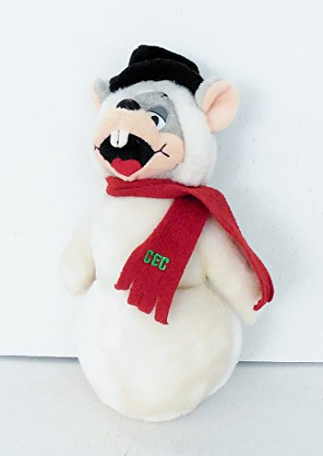 Chuck E. Cheese Mouse In Snowman Costume 9