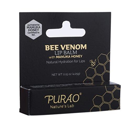 Price comparison product image PURAO NATURAL BEE VENOM LIP BALM STICK for LASTING HYDRATION 0.15OZ / 4.25G