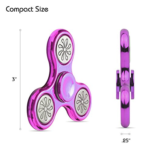 Carben SPNR-ABS-PNK 2017 Fidget Spinner NEW Design, High Speed Rotating Toy Helps with Stress, ADD, ADHD, Anxiety, Autism and perfect for Adults and Children – Pink