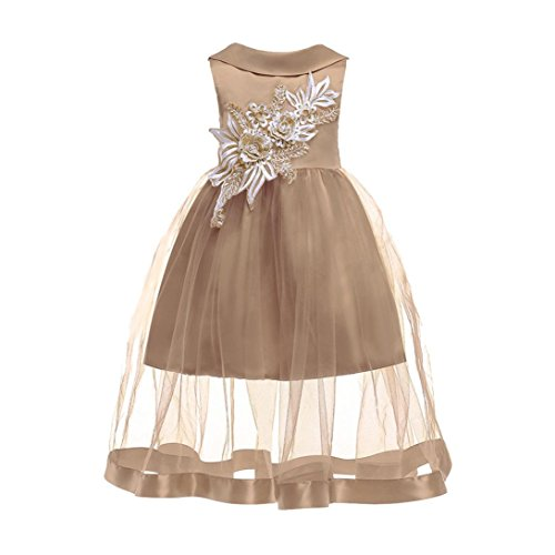 KpopBaby Floral Baby Girl Elegent Princess Bridesmaid Pageant Gown Birthday Party Wedding Dress