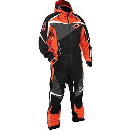 Castle X Freedom Monosuit Mens Snowmobile Suit - Orange - 2XL