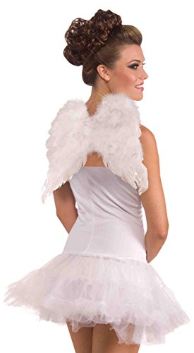 Forum Novelties Women's Adult Club Angel Feather Wings Costume Accessory, White, One Size