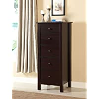 Furniture of America CM-AC119EX Launces Espresso Storage Chest Drawer