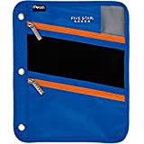 Mead Five Star Large 3 Ring, 3 Zip Pencil/Storage Pouch (Royal Blue)