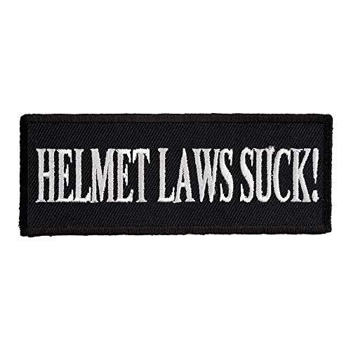 Helmet Laws Suck Patch, Funny Biker -