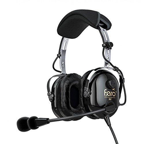 Radio Aircraft Noise (Faro G2 ANR (Active Noise Reduction) Premium Pilot Aviation Headset with Mp3 Input - Black)