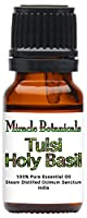 Miracle Botanicals Tulsi Holy Basil Essential Oil - 100% Pure Ocimum Sanctum - Therapeutic Grade