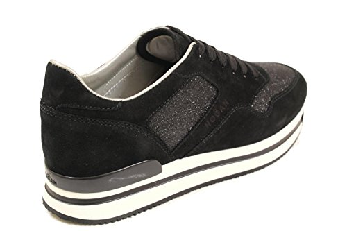 Hogan Sneakers Donna HXW2220N624G8B999 Camoscio Nero