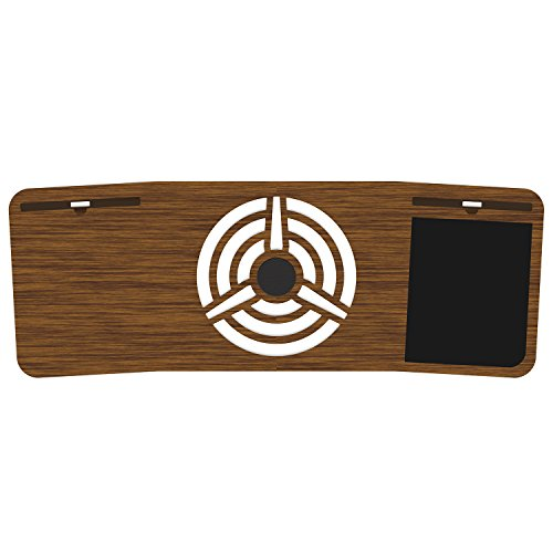 Pilot LapDesk - Premium Laptop Desk by iSkelter - in Walnut and Bamboo - Built in The USA - Mousepad, Laptop Grip, and Cooling Pad (Deskspace, Limited Walnut Bamboo)