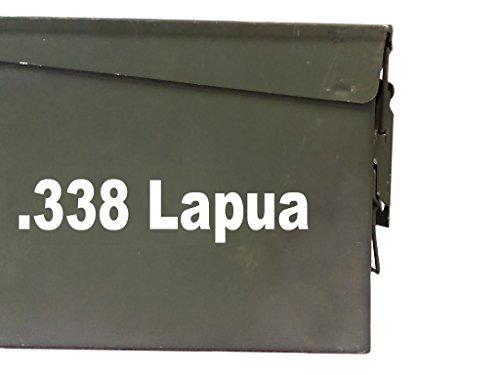 - FGD 338 Lapua Ammo Box Decal Sticker Label Set Two 8